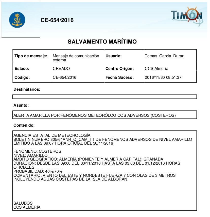 Salvamento Marítimo - Club de Mar Almería
