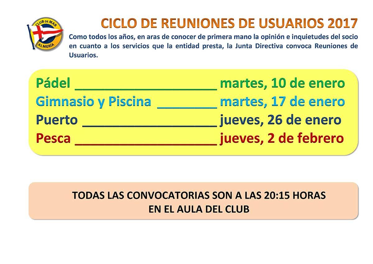 Reuniones de usuarios - Club de Mar Almería
